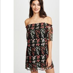 NWT BB Dakota Gates Off The Shoulder Mini Dress